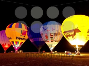 The glow of hot air balloons at night during the World Ploughing Competition in Germany 2018 - franky242 photography