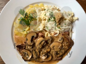 Escalope chasseur with spaetzle - franky242 photography