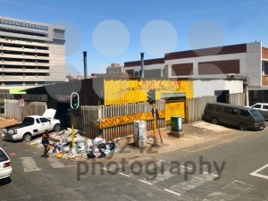 A scrap dealer is housing its garbage on the streets of Johannesburg, South Africa - franky242 photography