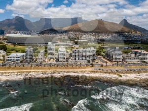 Aerial photo of Cape Town and Tabble Mountain - franky242 photography