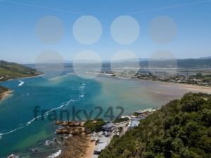 Aerial photo of Knysna in South Africa - franky242 photography