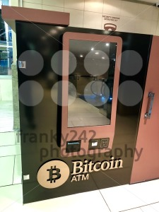 Bitcoin ATM in shopping mall in Johannesburg, South Africa - franky242 photography