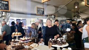 Booth selling delicious sweets at a Neighbourgoods Market at the waterfront of Cape Town, South Africa. - franky242 photography