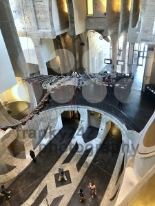 View of the impressive Zeitz Museum of Contemporary Art Africa (MOCAA) located in in a reincarnated grain silo in Cape Town, South Africa. - franky242 photography