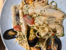 Seafood Pasta with mussels and octopus