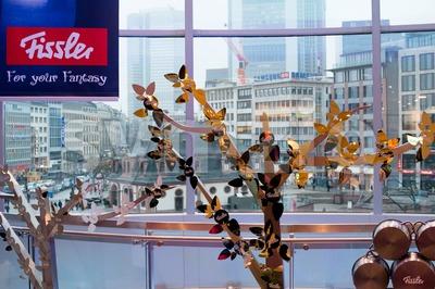 Fissler creative shopwindow decoration Stock Photo