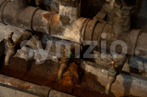 Old spigots Stock Photo