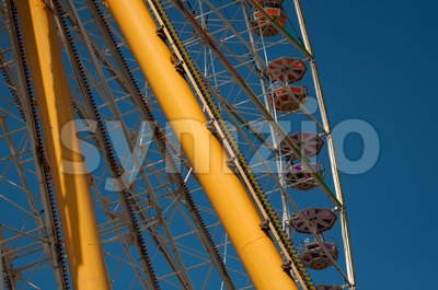 Amusement Park Ferris Wheel Stock Photo