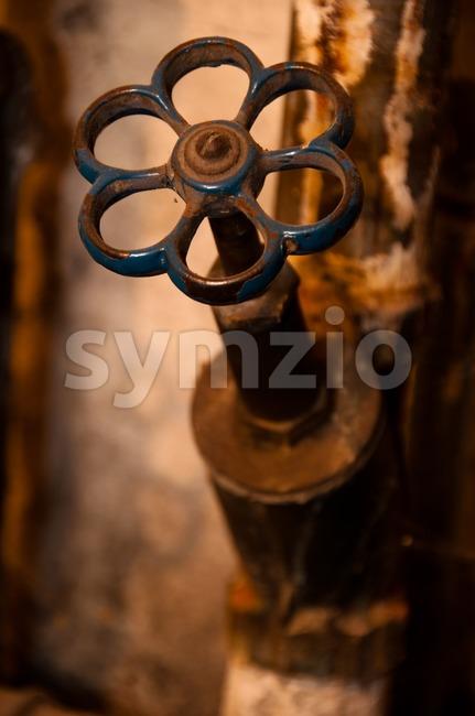 rusty water tap Stock Photo