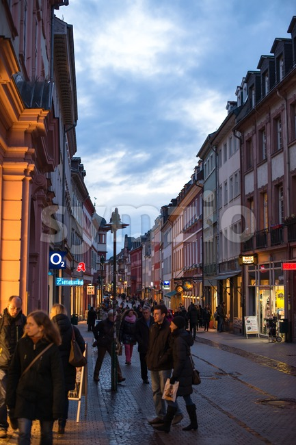 Beautiful Buildings Of Heidelberg Stock Photo