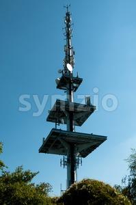 Communication tower Stock Photo