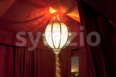 Traditional Riad Tent In Marrakesh At Night Stock Photo