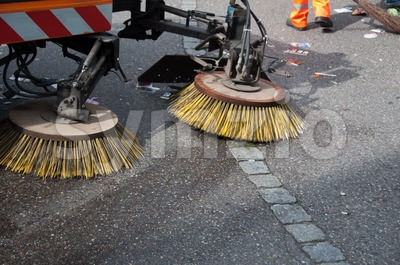 street sweeper machine/car Stock Photo