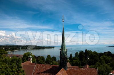 Konstanz - View at Lake Constance Stock Photo