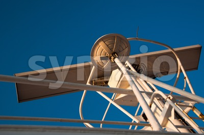 Ship Navigation and Radar Stock Photo
