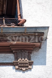 Old Roof Decoration Stock Photo