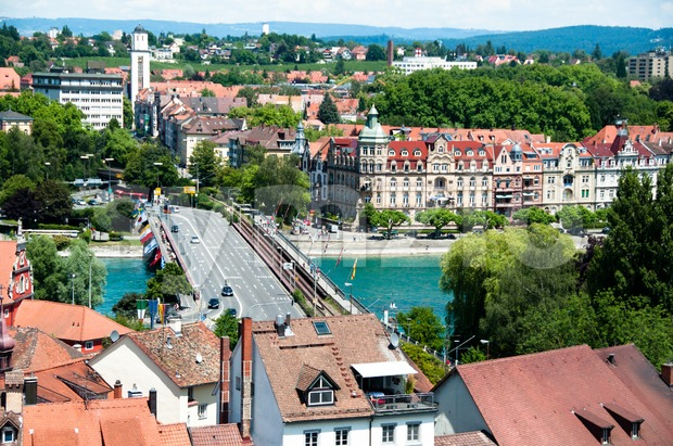 Konstanz City at Lake Constance Stock Photo