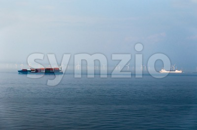 Offshore Wind Farm Stock Photo