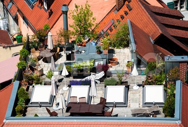 Roof Terrace Stock Photo