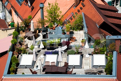 Roof Terrace Stock Photo