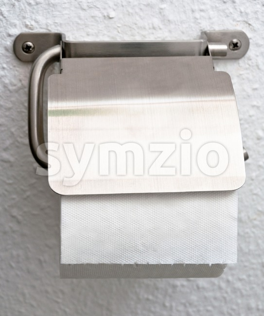 Toilet paper holder Stock Photo