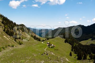 Bodenschneid Pasture, near Schliersee, Bavaria Stock Photo