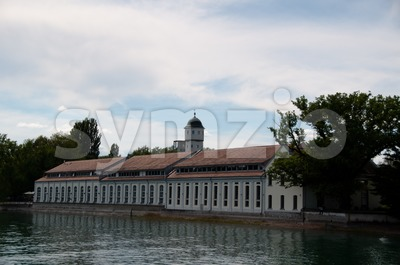 Old factory in Konstanz at Lake Constance Stock Photo