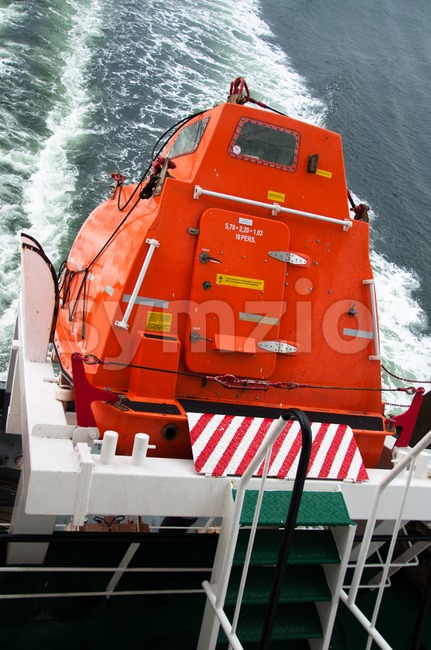 Freefall Lifeboat Stock Photo