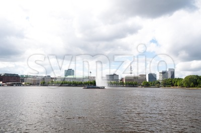 Inner Alster Hamburg Stock Photo