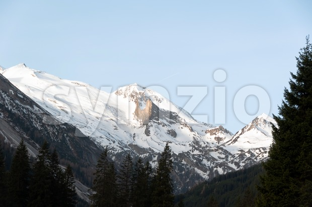 View on Hintertux Glacier Stock Photo