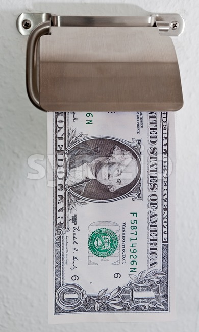 Dollar Decadence Stock Photo