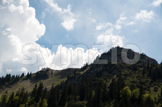 View on Bodenschneid Alp near Schliersee, Bavaria, Germany
