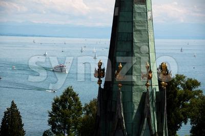 Konstanz - View at Lake Constance Stock Photo