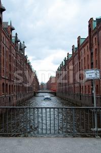 Speicherstadt In Hamburg, Germany Stock Photo