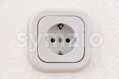 White Power Outlet With Path Stock Photo