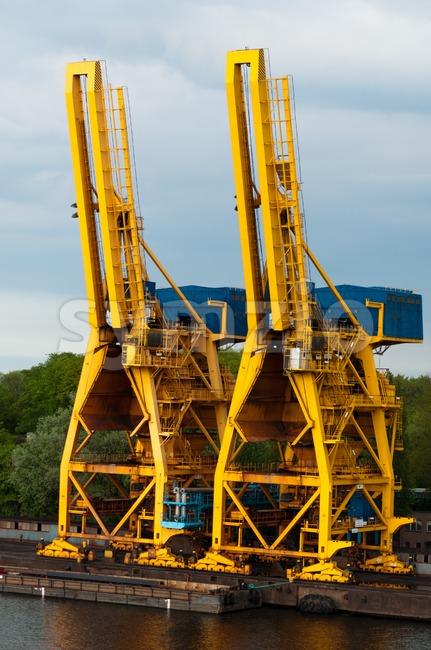 Shipping Cranes Stock Photo