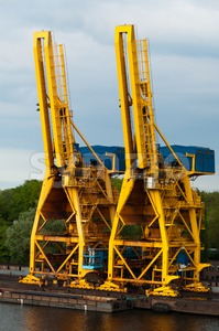 Shipping Cranes Stock Photo