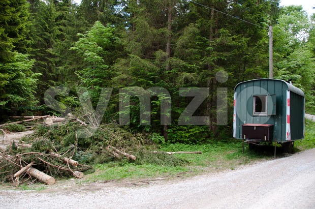 Lumber Shed Stock Photo