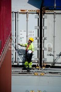 Loading The Cargo Stock Photo