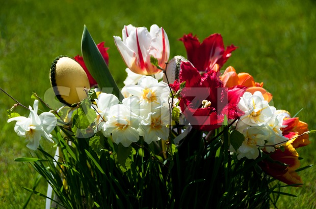Easter Flower Bouquet Stock Photo