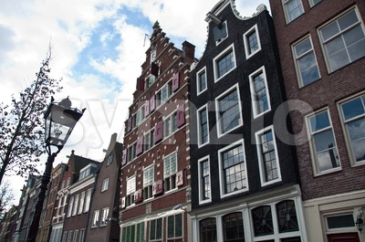 Amsterdam Facades Stock Photo