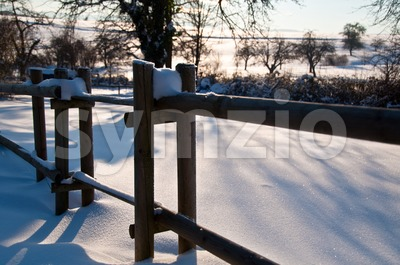 Winter Snow Scene Stock Photo