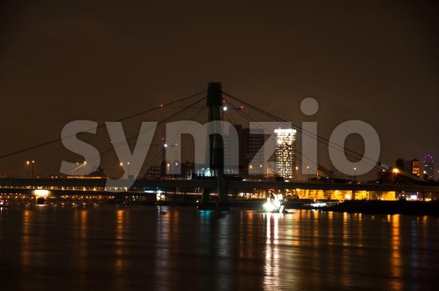 Severin Bridge in Cologne, Germany Stock Photo