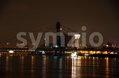 Severin Bridge in Cologne, Germany Stock Photo