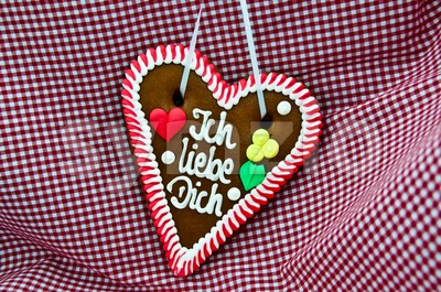 Oktoberfest Gingerbread Heart Stock Photo