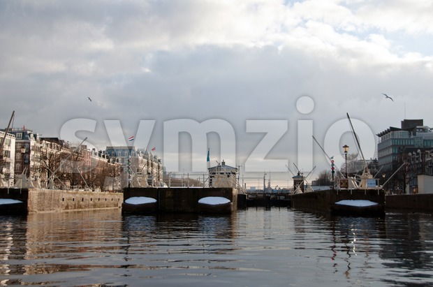 Amsterdam Sluices Stock Photo