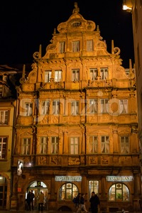 Traditional Hotel Zum Ritter in Heidelberg, Germany Stock Photo