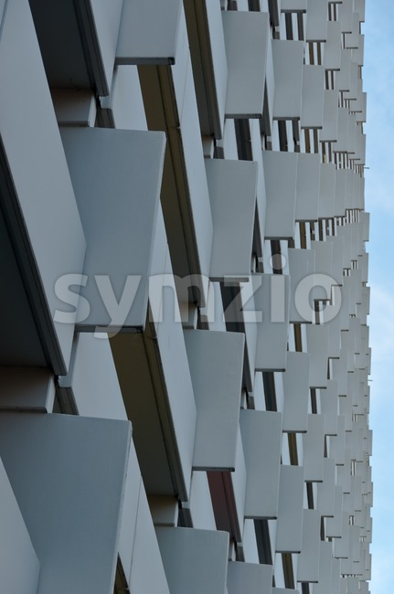 Apartment Buidling closeup Stock Photo