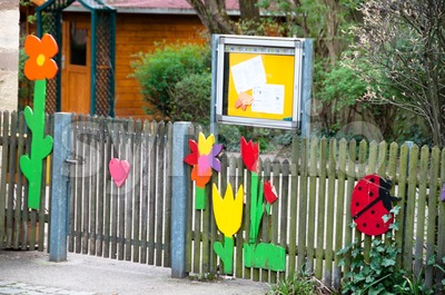 Kindergarten Entrance Stock Photo