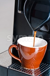 Making Espresso Stock Photo
